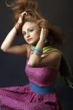 sinnlig kvinna för hippie royaltyfri fotografi