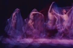 Sinnlig och emotionell dans av den härliga ballerina Royaltyfri Fotografi