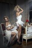 Sinnliga kvinnor med den perfekta kroppen fotografering för bildbyråer