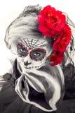 Sinnliga Sugar Skull Fotografering för Bildbyråer