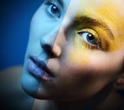Sinnligt för makeup för blått öga iskallt Royaltyfri Foto