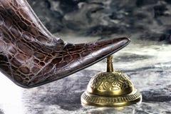 Sino da senhora Ringing Service Fotografia de Stock Royalty Free