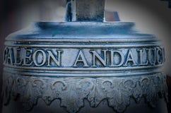 Sino de Galeon, Campana di Galeone Andaluso Imagem de Stock