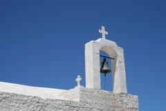 Sino de igreja grega foto de stock