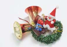 Sino de Natal Imagens de Stock Royalty Free