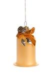 Sino de Natal com decoração Imagens de Stock