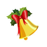 Sino de Natal do ouro Imagens de Stock Royalty Free