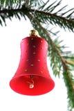 Sino de Natal vermelho imagens de stock