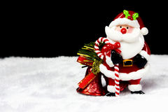 Sino de Papai Noel e de Natal Fotos de Stock