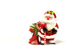 Sino de Papai Noel e de Natal Imagens de Stock