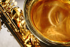 Sino do saxofone imagens de stock royalty free