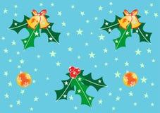 Sino e esfera de Natal Fotos de Stock