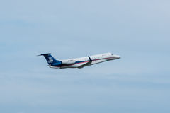 Sino Jet-private Flugzeuge entfernen sich Stockbilder