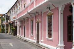 Sino Portugalska architektura w Phuket miasteczku -6 obrazy stock