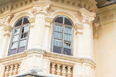 Sino-Portuguese architecture of ancient building in Phuket town. Royalty Free Stock Images