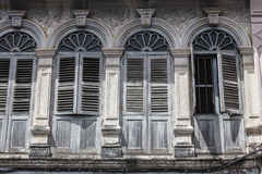 Sino-Portuguese Architecture influenced building in Phuket. Royalty Free Stock Image