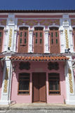 Sino-Portuguese Architecture influenced building in Phuket. Royalty Free Stock Photography