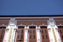 Sino-Portuguese Architecture influenced building in Phuket. Stock Images