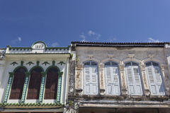 Sino-Portuguese Architecture influenced building in Phuket. Stock Photography