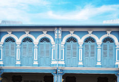 Sino-Portuguese architecture style in Phuket, Thailand Royalty Free Stock Image