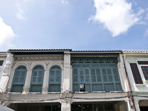 The Sino-Portuguese shophouse Royalty Free Stock Photos