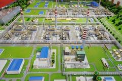 Sinopec组天然气加工设备设计 库存照片