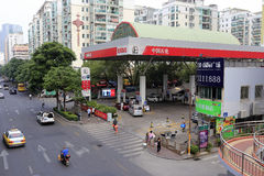 Sinopec gas station Royalty Free Stock Images