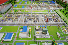 Sinopec Group Natural Gas Processing Plant Model Stock Photo
