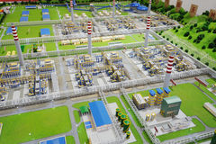 Sinopec Group Natural Gas Processing Plant Model Royalty Free Stock Image