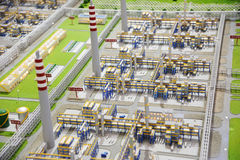 Sinopec Group Natural Gas Processing plant model Royalty Free Stock Photography