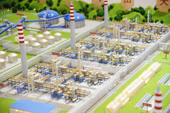 Sinopec Group Natural Gas Processing plant model Stock Images