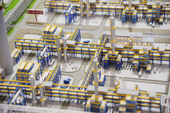 Sinopec Group Natural Gas Processing plant model. The 13th Western China International Fair ,September 25th-30th,2012.in chengdu,sichuan,china stock photo