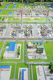 Sinopec Group Natural Gas Processing plant model Royalty Free Stock Images