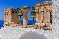 Sinos de Santorini Fotos de Stock Royalty Free