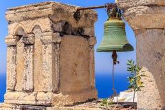 Sinos de Santorini III Imagens de Stock
