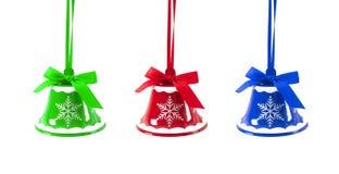 Sinos de tinir do Natal em um ano novo do fundo branco Foto de Stock Royalty Free