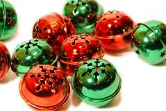 Sinos de tinir do Natal no fundo branco Imagem de Stock