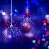 Sinos de tinir para a decoração do Natal Fotografia de Stock Royalty Free