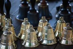 Sinos dourados Fotografia de Stock Royalty Free