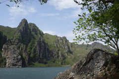 Sinpyong山,黄海北道, DPRK (北部Ko 免版税库存照片
