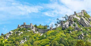 Sinra, Portugal. Moorish castle Stock Photography