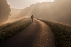 Sinrise de niebla Imágenes de archivo libres de regalías