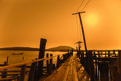 Sinrise on the sea coast of Phuket island, Thailand Royalty Free Stock Photography