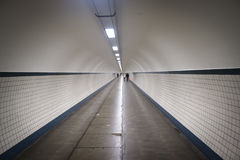 The Sint-Anna tunnel in Antwerp Stock Images