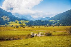 Sint Johann village in Tyrol area Stock Images