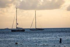Sint Maarten Bay Harbor. Sint Maarten Ocean View Harbor Royalty Free Stock Photo
