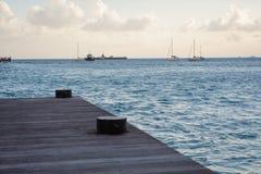 Sint Maarten Dock. Sint Maarten boat dock evening Stock Image