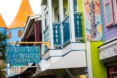 Sint Maarten Downtown. Shops on old street Royalty Free Stock Image