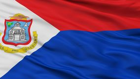 Sint Maarten Flag Closeup View διανυσματική απεικόνιση