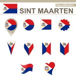 Sint Maarten Flag Collection ελεύθερη απεικόνιση δικαιώματος
